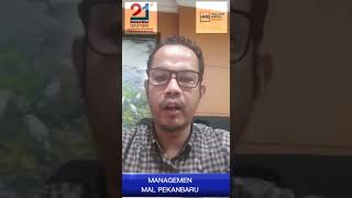 Ucapan Selamat Ulang Tahun Haluan Riau ke-21 dari Manajemen Mall Pekanbaru