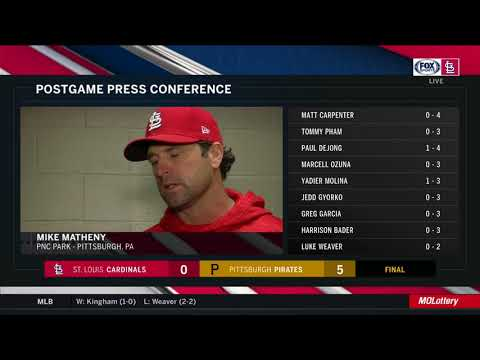 Matheny on Pirates starter Nick Kingham: 'He made good pitches, that's all there is to it'