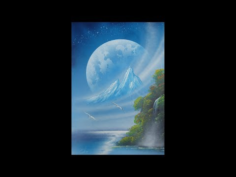 Spray paint art – Beautiful nature – made by street artist *time lapse*