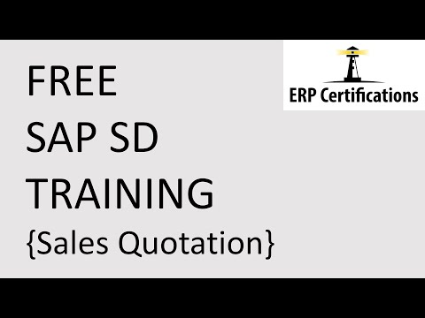 Free SAP SD Training - Sales Quotations