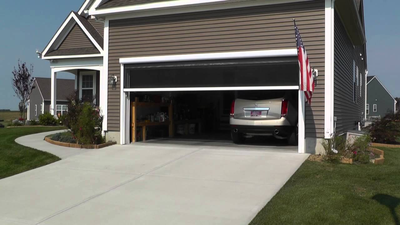 garage door screens retractableMotorized Garage Screen  YouTube