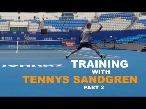 Training With Tennys Sandgren | Part 2 - Volleys, Serves & Returns (TENFITMEN)