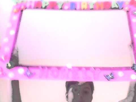 My birthday photo frame!!!! 🎈🎂🎁🎉🎊 - YouTube