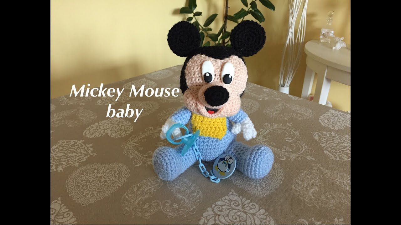 Mickey Mouse-Topolino baby Amigurumi(tutorial) - YouTube