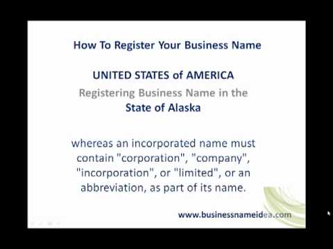 How to register business name in Alaska