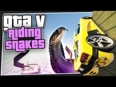 GTA 5 Online - Riding Snakes (GTA V Custom Games)