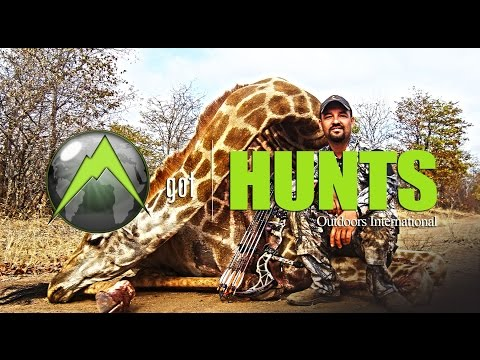 Archery Hunting in Africa for Giraffe and Cape Buffalo Hunting Video