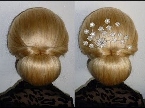 Easy Und Quick PromWedding HairstyleDonut Hair Bun Updo