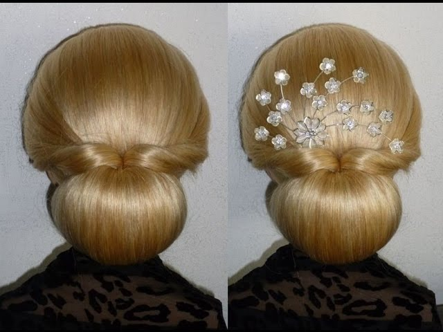 Easy Und Quick Promwedding Hairstylenut Hair Bun Updo Hairstyles