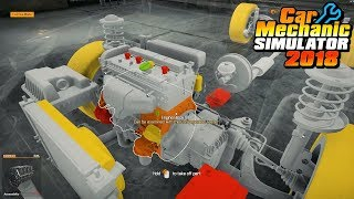 Car Mechanic Simulator 2018 (PC) ep26 Blue Royale Crown with broken engine (Story order 24)