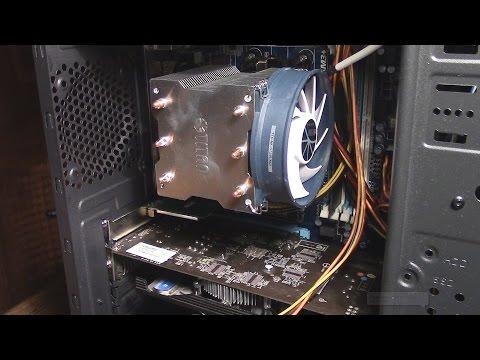 Установка системы охлаждения TITAN TTC- NK35TZ/R на ЦП с сокетом AM3+ Gigabyte GA-970A-DS3