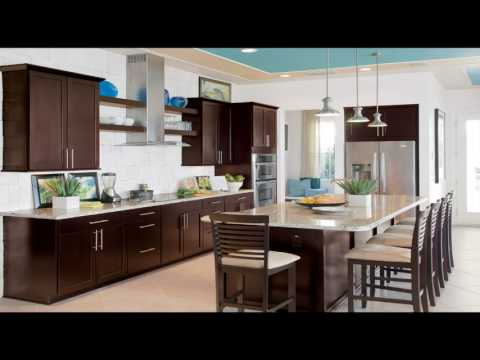 Modern White And Brown Kitchen Cabinets