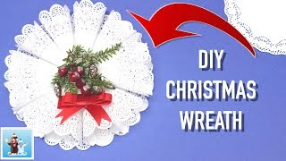 How to Reuse Paper Napkins and Make Cute Christmas Wreath Decorations Art and Craft Ideas