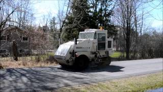 Elgin Pelican Street Sweeper In Action Heavy Equipment