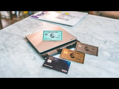 NEW Amex Green Card Unboxing WEIGHT Vs Amex Platinum, Gold, Chase Reserve