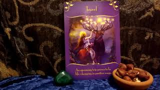 Daily Tarot Card Reading 21st December 2018 Yule Travel Oracle Card