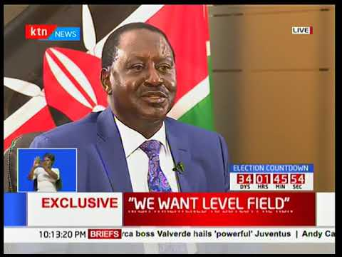 """Jubilee knows that they can not win...that's why Uhuru Kenyatta is talking of impeaching"" Odinga"