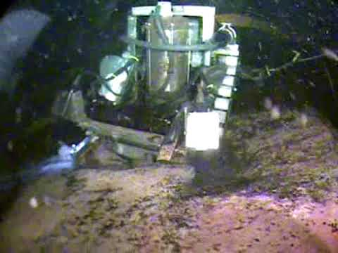 Tank Cleaning Robot cleaning 5 feet of Sand out of a Clearwell Basin
