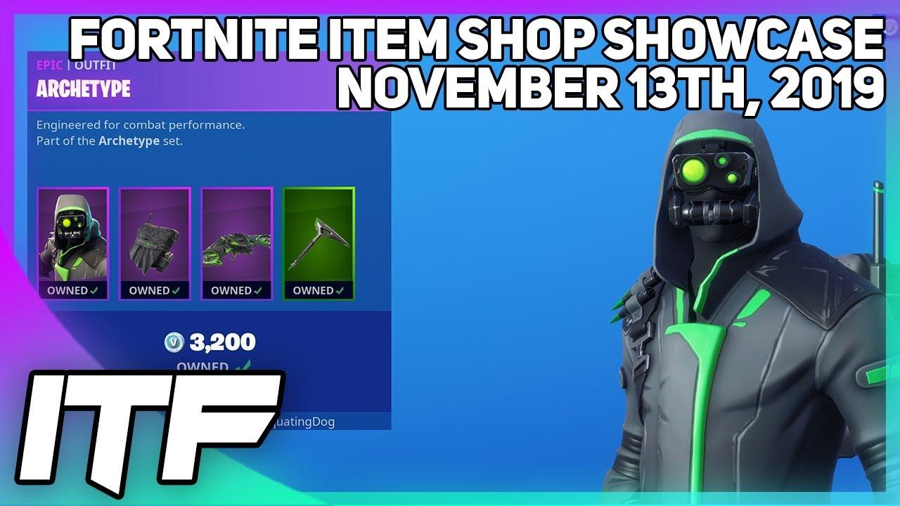 Fortnite Item Shop *NEW* ARCHETYPE BUNDLE + MUSIC! [November 13th, 2019] (Fortnite Battle Royale)