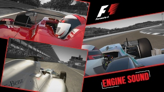 F1 Gameplay - F1 2012, 2014, 2016 ALL Engines Comparison [sound]