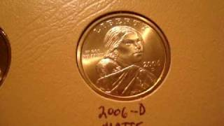 Sacagawea Golden Dollar Collection.