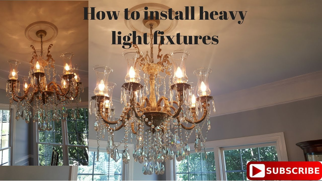 How to install a heavy light fixture youtube how to install a heavy light fixture aloadofball Images