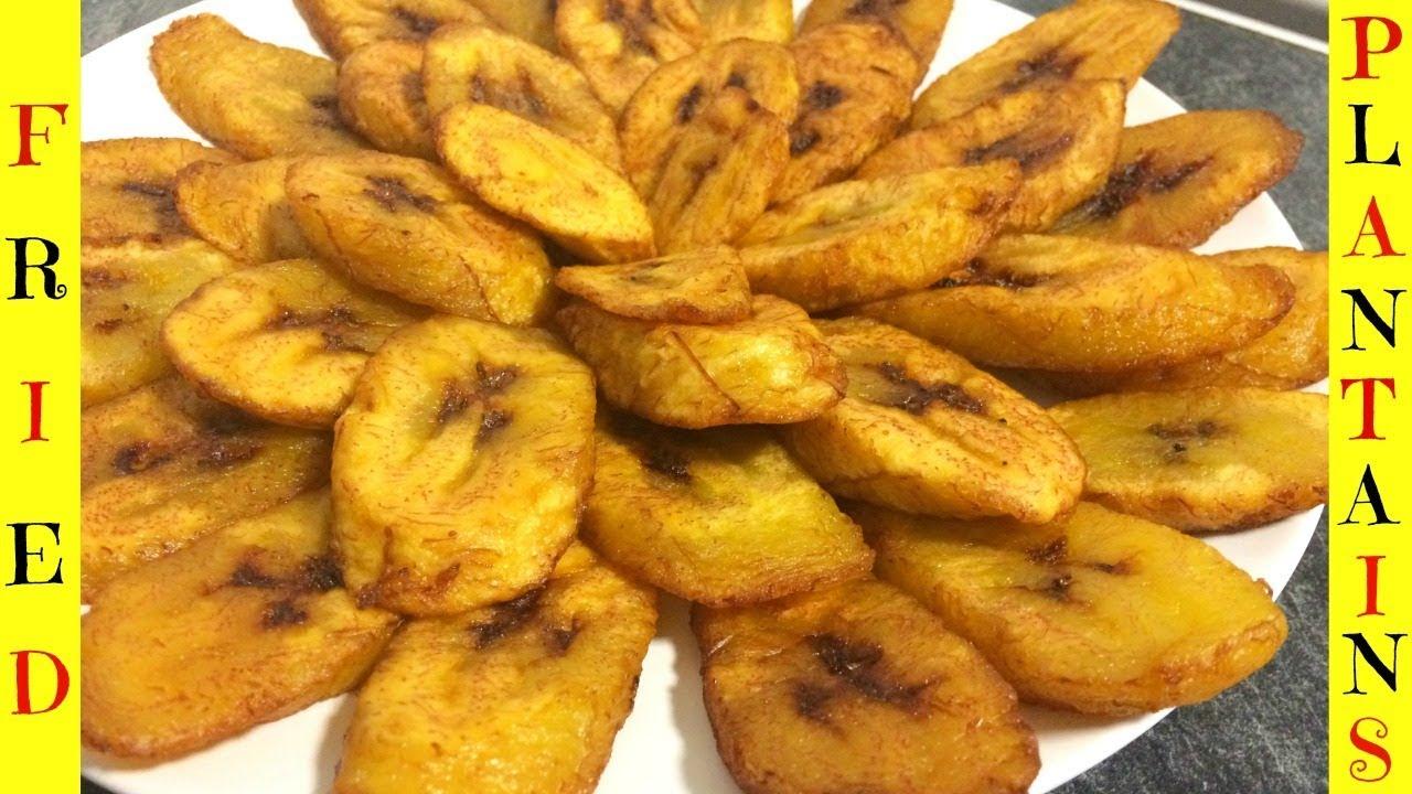 How To Fry Plantains Fried Plantains Dodo Platanos Maduros Youtube