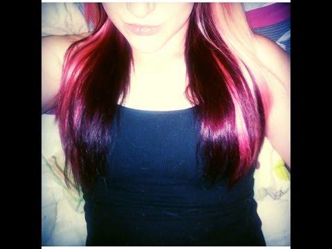 hair & update splat crimson