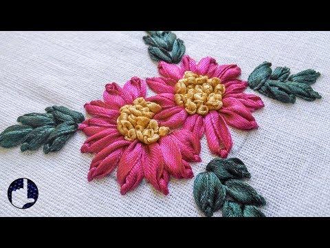 Hand Embroidery Tutorials   Ribbon Stitches   HandiWorks #32