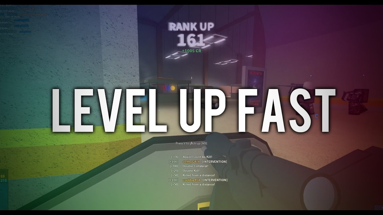 How To Level Up Fast In Phantom Forces Youtube