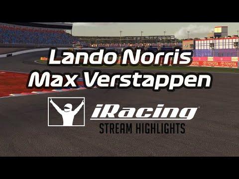 Lando Norris & Max Verstappen on iRacing   Stream Highlights 03.09.2019