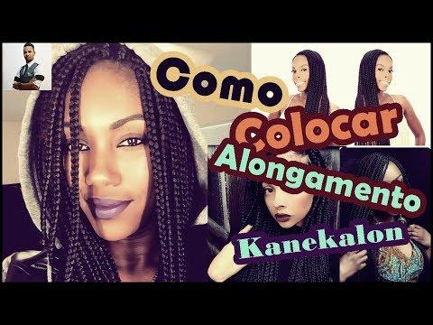 Como fazer alongamento de cabelo? com kanekalon box braids tutorial com cabelo artificial