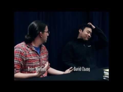 David Chang  with co-author, Peter Meehan  at Kepler's