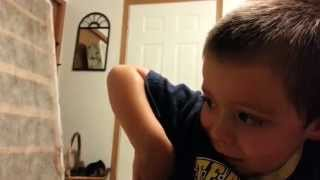 Dad tricks little boy - cute and funny