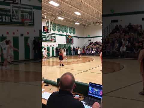 Laura Patulski scoring at the beginning of their Senior Day game,