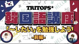 TRITOPS* 韓国語講座「싶다/シプタ(〜したい)」を勉強しよう!〜前編〜]