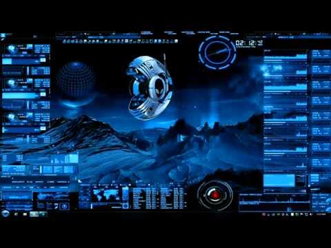 futuristic alienware window7 xp vista theme youtube