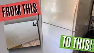 HOW TO PAINT A REFRIGERATOR | REVIEW OF RUSTOLEUM APPLIANCE EPOXY