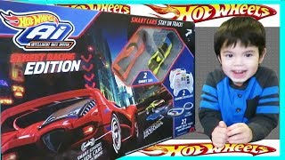 Hot Wheels Ai Intelligent  Race System Street Racing EDITION 2 Smart Cars, 2 Gaming Controllers