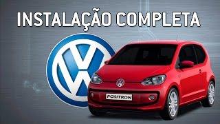 Instalação completa  do alarme Pósitron  no Volkswagen UP 2014