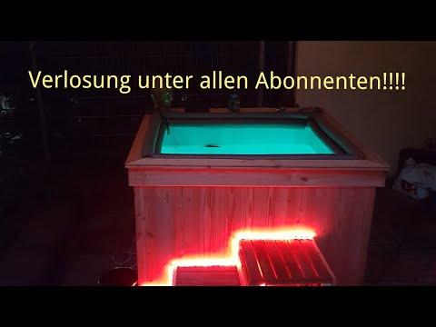 IBC Tank zum jacuzzi umgebaut;) pool für kleines geld in kurzer zeit mit super optik!!Verlosung!!