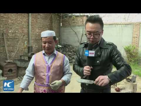 Legendary sword-making community in Gansu, China