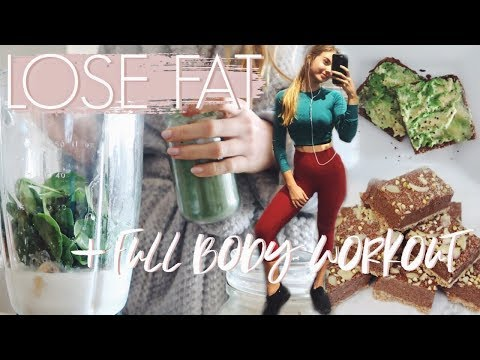 What I Eat In A Day To LOSE FAT + Full Body Workout!
