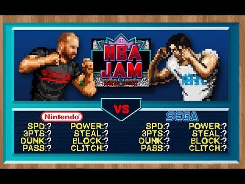 Console Wars - NBA JAM - Super Nintendo vs Sega Genesis
