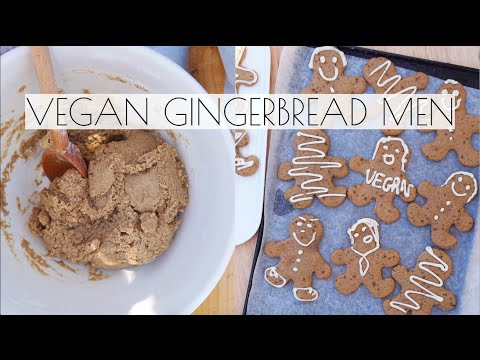 VEGAN GINGERBREAD MEN | CHRISTMAS RECIPE - Tess Begg