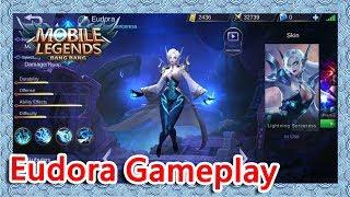 Eudora Gameplay|Brawl Mode|【Mobile Legends】