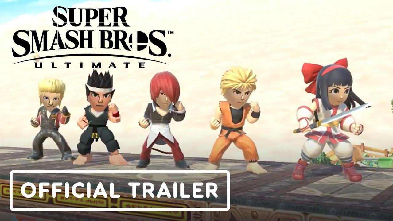Super Smash Bros.Ultimate - Trailer oficial de Disfraces de Mii Fighter + vídeo