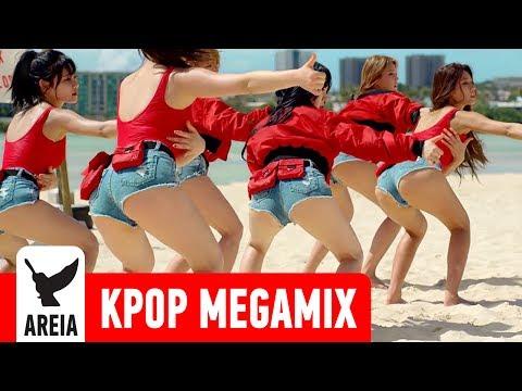 KPOP MEGAMIX #10 AOA SEXY MASHUP Like A Cat Excuse Me Good Luck Short Hair Miniskirt Heart Attack