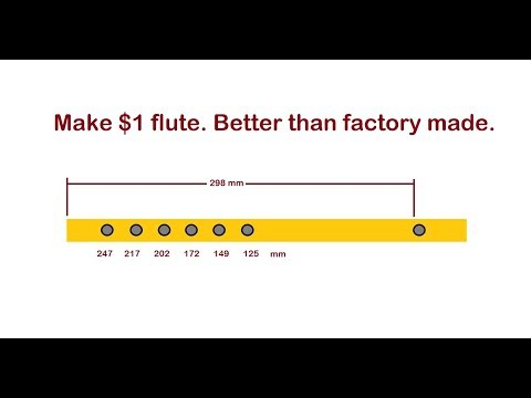Make a Professional Sounding Flute for $1.