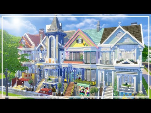 SAN FRANCISCO TOWNHOUSES // The Sims 4: Speed Build